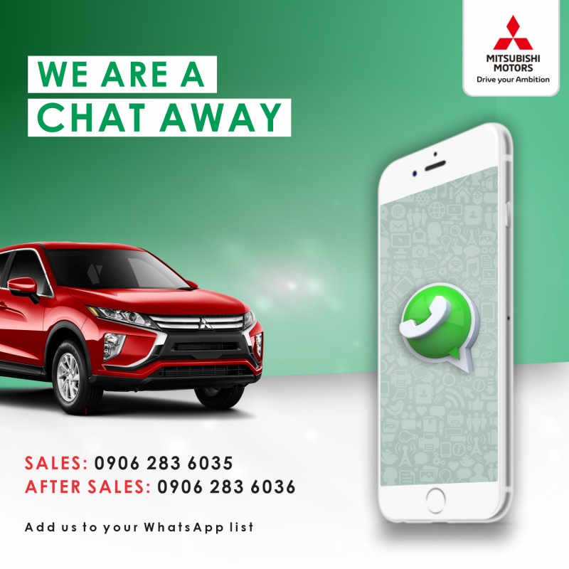 We Are Now Available On WhatsApp