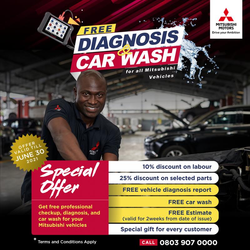 ENJOY FREE DIAGNOSIS & CAR WASH