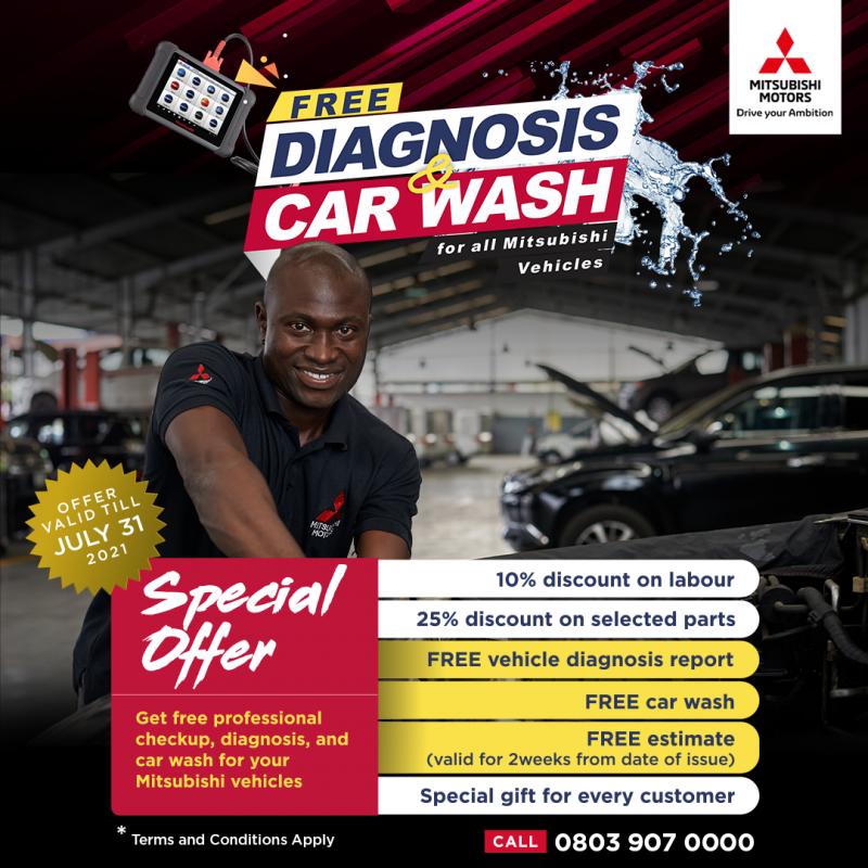 ENJOY FREE DIAGNOSIS & CAR WASH PROMO