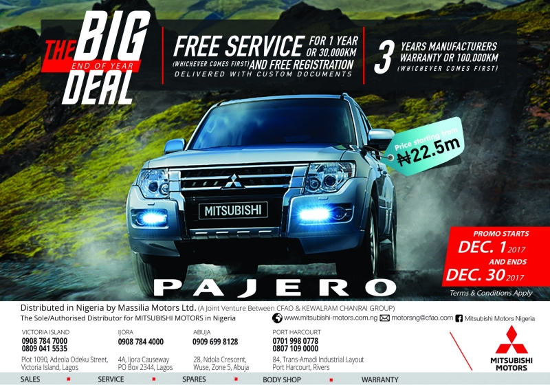 The Pajero End of Year Deal